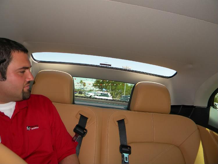 Nissan CrossCabriolet Rear Head Room