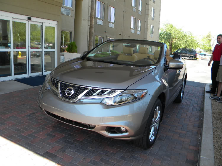 2011 Nissan Murano Cross Cabriolet with the top down