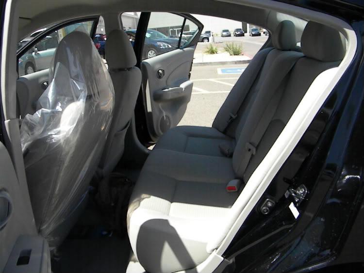 2012 Nissan Versa Back Seat